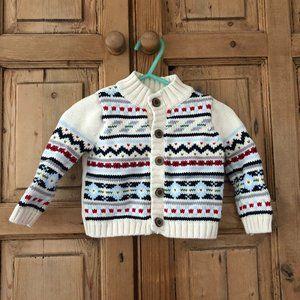 Dylan & Abby 0-3 Mo Fair Isle Knit Sweater